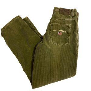 Green Corduroy Ralph Lauren Pants